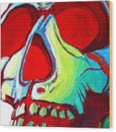 Skull Original Madart Painting Wood Print