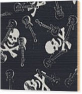 Skull Rockers Art Wood Print