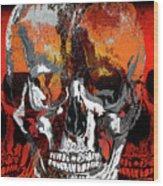 Skull Times Three Larger Size Wood Print