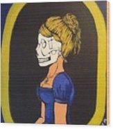 Skull Woman Wood Print