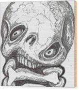 Skullnbone Twisted Wood Print