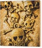 Skulls And Crossbones Wood Print