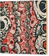 Skulls Infinate Wood Print