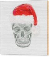 Skully Santa Wood Print