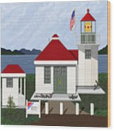 Skunk Bay Lighthouse Wood Print