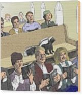 Skunk Goes To Church - Sits In Own Pew Wood Print