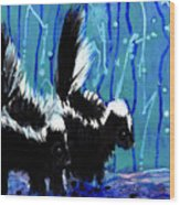 Skunks Wood Print