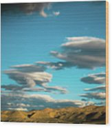 Sky And Clouds Garuda Valley Tibet Yantra.lv Wood Print