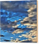 Sky And Clouds Wood Print