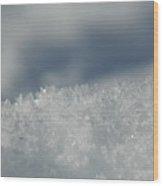 Sky And Ice Wood Print