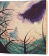Sky And Land Symphony Wood Print