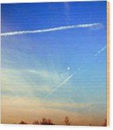 Sky Art Wood Print