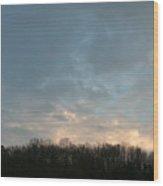 Sky At Dusk Wood Print