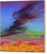 Sky Blastin Wood Print
