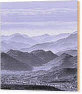 Sky Blue Hills Of The Tonto Wood Print