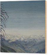 Sky Blue Wood Print