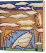 Sky Cow Wood Print