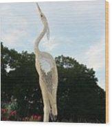 Sky Crane Wood Print