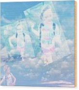 Sky Dancing Wood Print