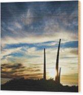 Sky Fingers Wood Print