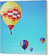 Sky Full Of Color Wood Print