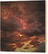 Sky Fury Wood Print