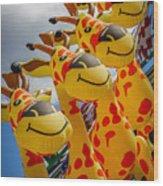 Sky Giraffes Wood Print
