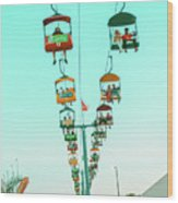 Sky Gliders Over Crowd Wood Print