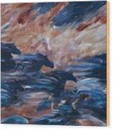 sky herd II Wood Print