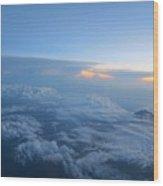 Sky High Mountain  Wood Print