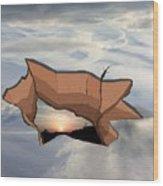 Sky Hole Sky Wood Print