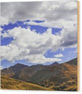 Sky On The Divide Wood Print