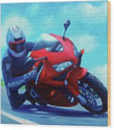 Sky Pilot - Honda Cbr600 Wood Print