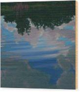 Sky Pond Wood Print