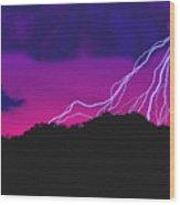 Sky Power Wood Print