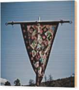 Sky Quilt Wood Print