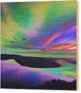 Sky Rays Wood Print