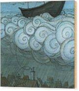 Sky Sailing Wood Print