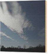 Sky Stretch Wood Print