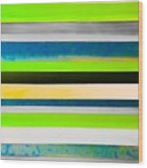 Sky Stripes 11 Wood Print