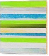 Sky Stripes 12 Wood Print