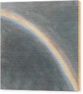 Sky Study With Rainbow Wood Print
