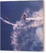 Sky Surfers Wood Print