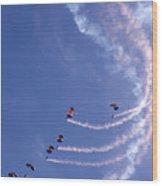 Sky Surfing Wood Print