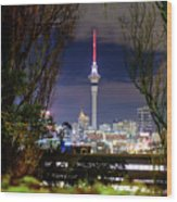 Sky Tower Wood Print