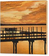 Sky Turmoil Wood Print