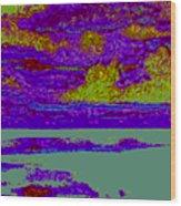 Sky Water D4 Wood Print