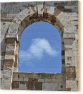 Sky Window Wood Print
