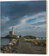 Fisgard Lighthouse Wood Print
