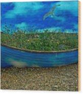 Skyboat Wood Print